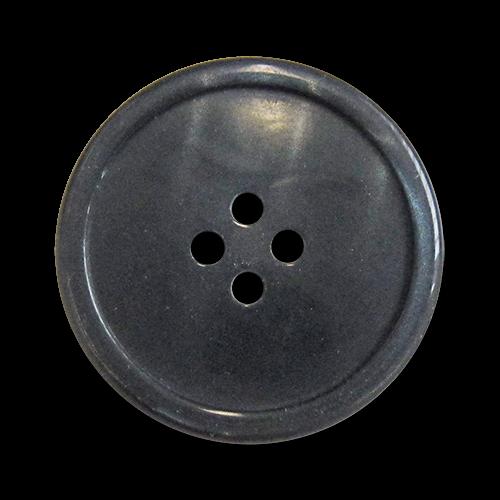 www.knopfparadies.de - 5984bl - Dunkelblau schimmernde Kunststoffknöpfe