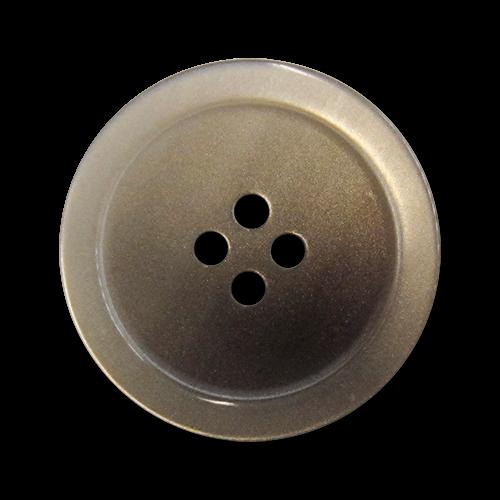 www.knopfparadies.de - 2230br - Braun und grau schimmernde Kunststoffknöpfe mit vier Löchern