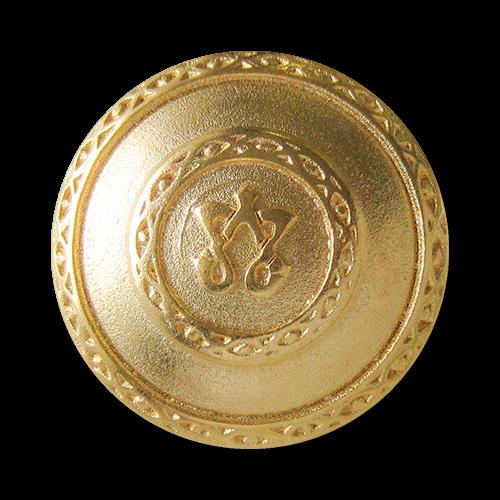 www.knopfparadies.de - 2332mg - Wunderschöne Mantelknöpfe aus Metall in matt gold