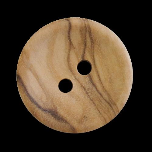 www.knopfparadies.de - 5999ho - Zweilochknöpfe aus echtem Holz