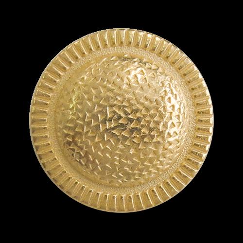 www.Knopfparadies.de - 2833go - Kreative Ösenknöpfe aus Metall in Gold matt