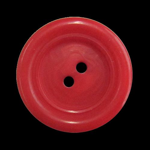 www.Knopfparadies.de - 3191ro - Zweilochknöpfe aus Kunststoff in frechem Rot