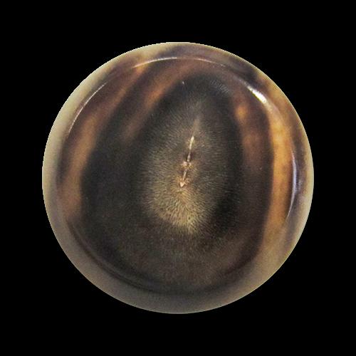 www.Knopfparadies.de - 5397bf - Edle braune Ösenknöpfe aus echtem Büffelhorn