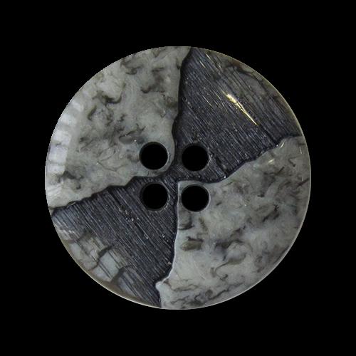 Schöner grau-schwarzer Knopf