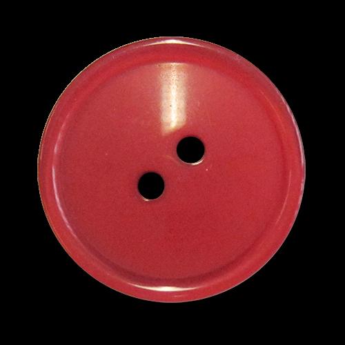 www.knopfparadies.de - 5089ro - Rote Mantelknöpfe aus Kunststoff