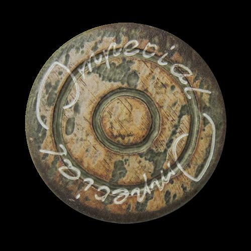 www.Knopfparadies.de - 1535br - Braun melierte Kunststoffknöpfe im Ethno Stil wie Holz oder Horn