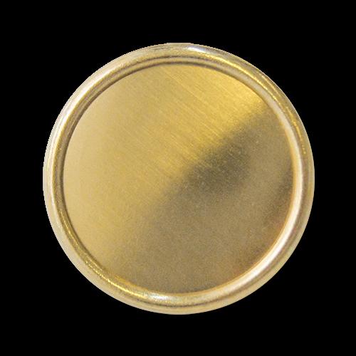 www.knopfparadies.de - 3245go - Blechknöpfe aus Metall in matt goldfarben