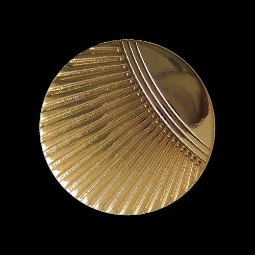 Schöne goldfarbene Metall Ösen Knöpfe mit stilisiertem Muschel Muster