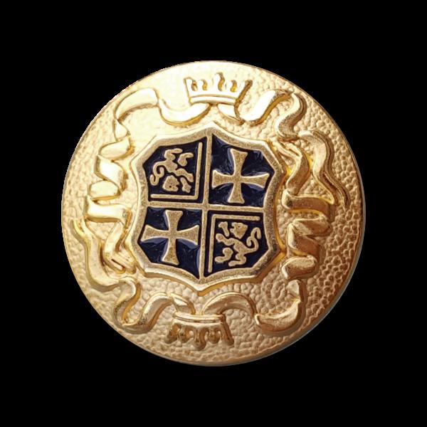 www.knopfparadies.de - 0954bg - Edle Metallknöpfe mit Wappen und Krone