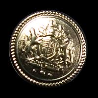 Altgoldfarbener Metallknopf Wappen Uniform