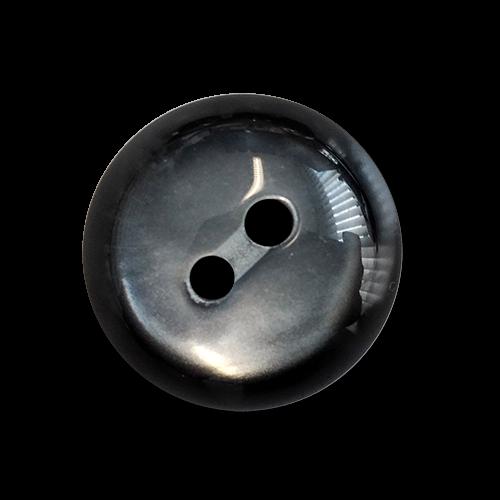 www.knopfparadies.de - 6051gr - Grau schimmernde Kunststoffknöpfe mit zwei Löchern