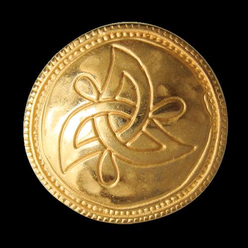 www.Knopfparadies.de - 5180go - Goldene Metallknöpfe mit Knoten Symbol