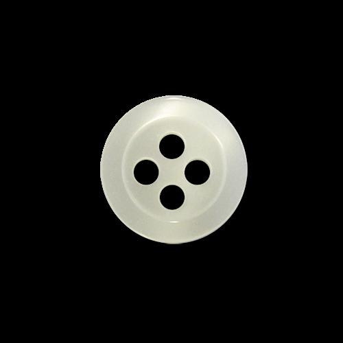 www.knopfparadies.de - 3727we - Winzige Vierlochknöpfe aus Kunststoff