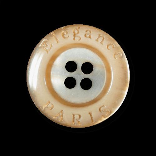 "Caramel brauner perlmuttartiger Knopf ""Elégance Paris"""