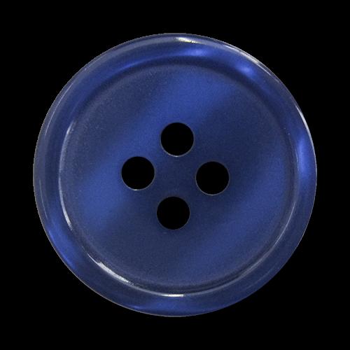 www.knopfparadies.de - 1545bl - Blau schimmernde Kunststoffknöpfe