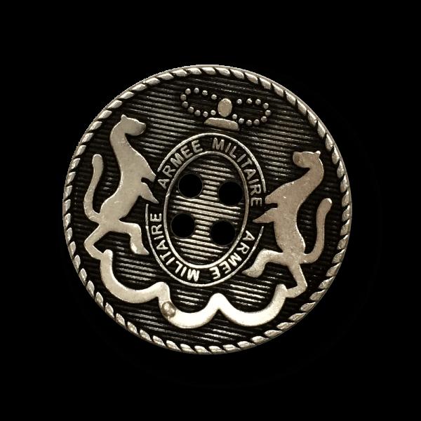 Vierloch Wappen Metall Knopf mit Pferden / B-WARE