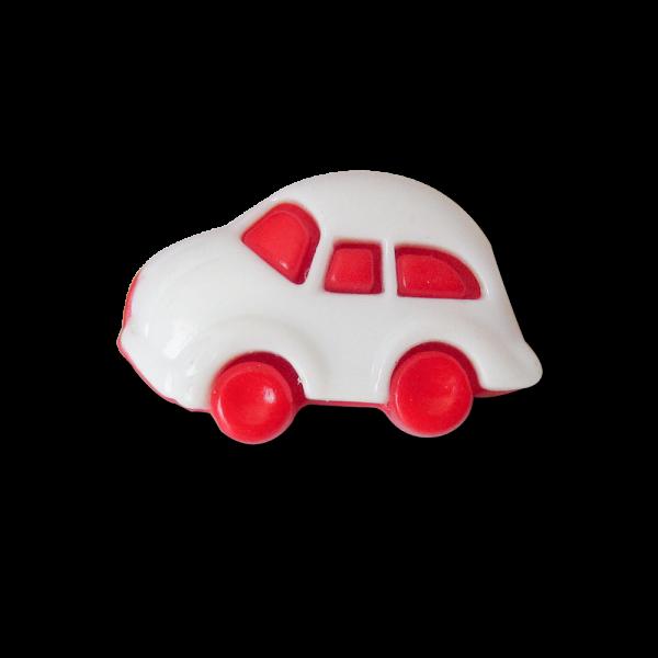 Rot weißer Kunststoff Ösen Knopf wie Auto für Kinder