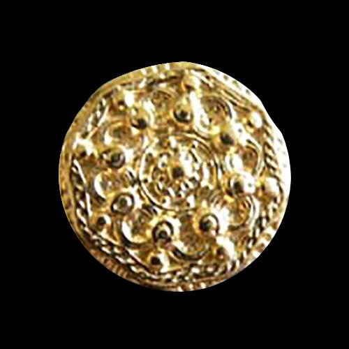 www.knopfparadies.de - 0694 - Goldfarbene Metallknöpfe