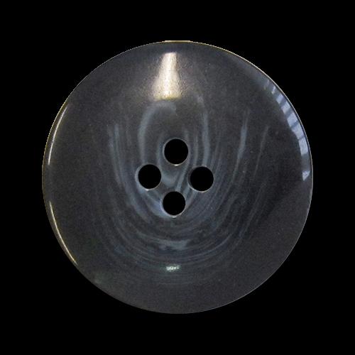 Klassischer blau melierter Vierloch Kunststoff Knopf