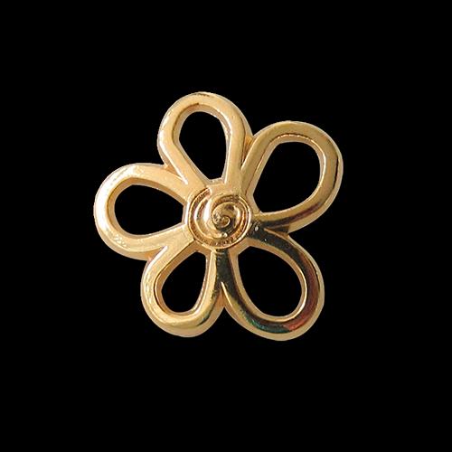 Eleganter goldfarbener Blütenknopf aus Metall