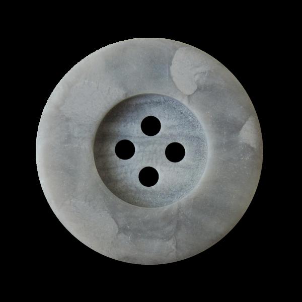 Hellgrau marmorierter Vierloch Kunststoff Knopf