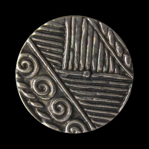 www.Knopfparadies.de - 1637as - Hübsch gemusterte Metallknöpfe in Altsilber
