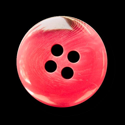 Moderner großer pink melierter Kunststoff Knopf
