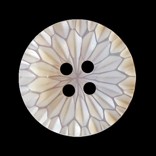 Bildschöner Perlmuttknopf in Rosettenform