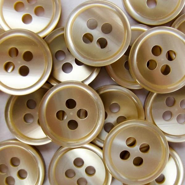 Kleiner beige perlmuttartiger Blusen o. Hemden Knopf