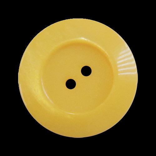 www.Knopfparadies.de - 5963se - Zweilochknöpfe aus Kunststoff wie Perlmuttknöpfe in Gelb