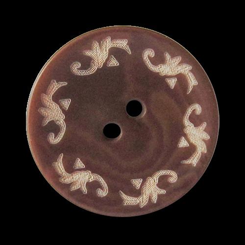 www.knopfparadies.de - 3565br - Trachtenknöpfe aus braun gefärbter Steinnuss