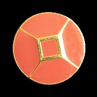 Edler Blazerknopf gold/terracotta