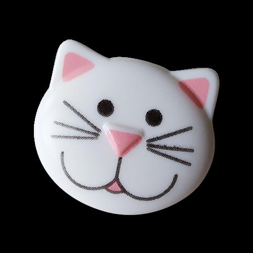 Hübscher Katzenkopf als Kinderknopf