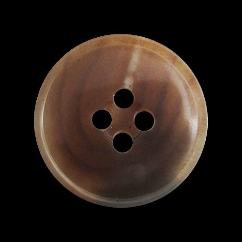 3061sb 10 urige dunkelbraun hellbraun melierte Kunststoffknöpfe in Horn Optik