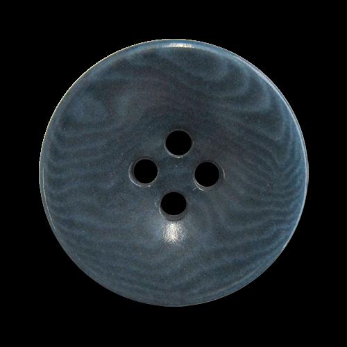 www.Knopfparadies.de - 5948bl - Blau gemaserte Vierlochknöpfe aus echter Steinnuss