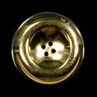 3 große Knöpfe aus altgoldfb. Metallblech