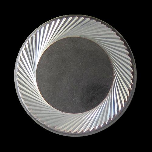 www.knopfparadies.de - 5745gs - Schwere, wunderschöne Metallknöpfe mit schraffiertem Rand