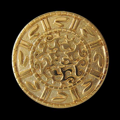 Interessante goldfarbene Metallknöpfe
