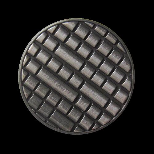 www.Knopfparadies.de - 3080ei - Moderne Designerknöpfe aus Metall in Eisen