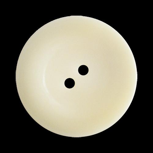 www.Knopfparadies.de - 2691nw - Riesige naturweiße Kunststoffknöpfe in Teller Form