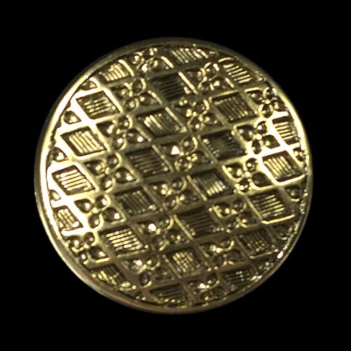 Altgoldfarbener Knopf mit elegantem Rauten Muster