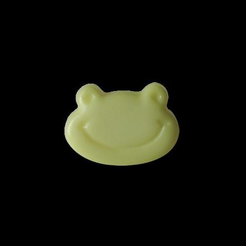 www.Knopfparadies.de - 1438fr - Süße kleine Kinderknöpfe mit lachendem Frosch