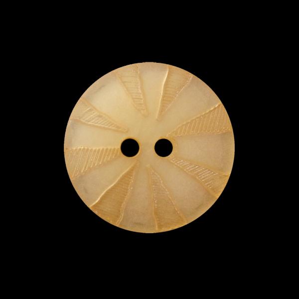 Apricot perlmuttartiger Knopf mit Strahlenkranz