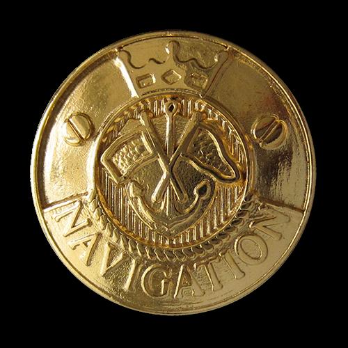 www.Knopfparadies.de - 2730go - Maritime Goldene Metallknöpfe mit Anker Motiv