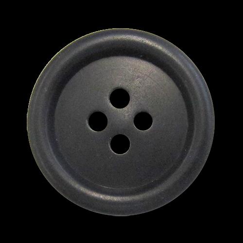 www.knopfparadies.de - 5983sc - Leichte Kunststoffknöpfe in matt schwarz