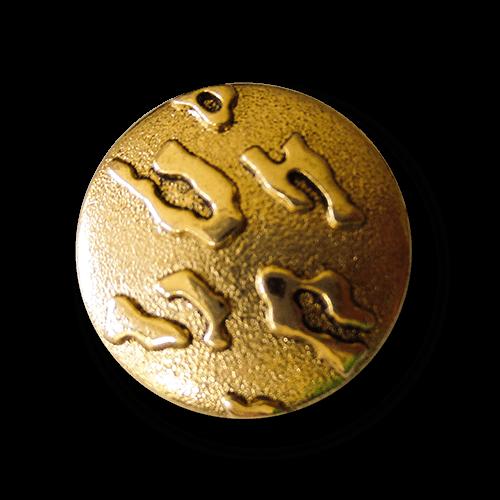 Exotischer Metall Knopf m. abstraktem Leoparden Muster