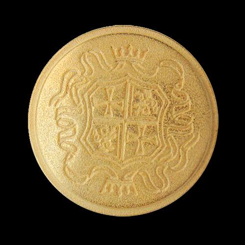 Ganz besonders edle matt goldfarbene Wappen Knöpfe