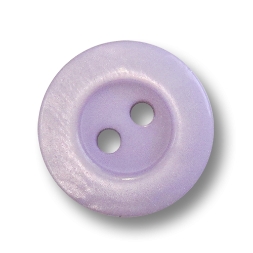 www.Knopfparadies.de - 5963fl - Kleine Zweilochknöpfe aus Kunststoff wie Perlmuttknöpfe in Flieder / Lila
