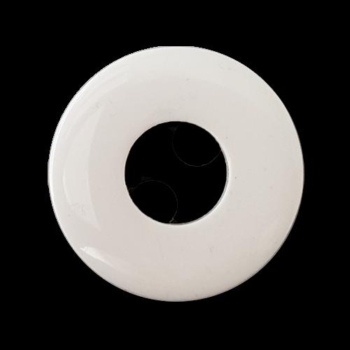 www.knopfparadies.de - 5652ws - Mantelknöpfe in minimalistischen Design, schwarz-weiß