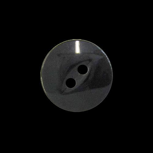 www.knopfparadies.de - 5969sc - Schlichte, schwarze Kunststoffknöpfe mit zwei Löchern